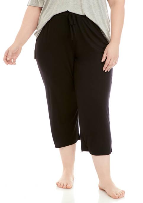 New Directions® Plus Size Capri Pajama Pants