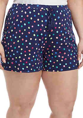 b03c064d85815 New Directions® Plus Size Print Sleep Shorts ...
