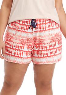 New Directions® Plus Size Print Sleep Shorts