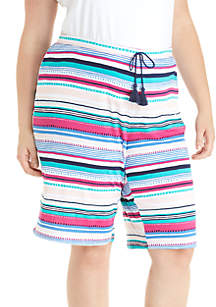 New Directions® Plus Size Bermuda Sleep Shorts
