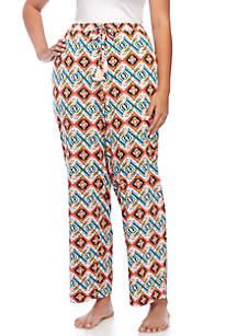 Plus Size Tassle Sleep Pants