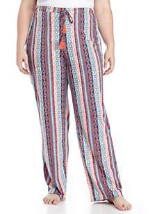 Plus Size Tassel Sleep Pants