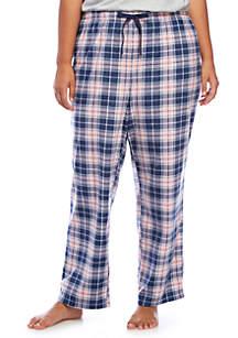 Plus Size Minky Sleep Pants
