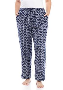 Plus Size Flannel Sleep Pants