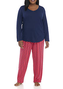 Plus Size 3-Piece Top, Pant, and Boxer Set