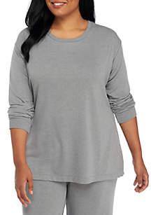 Plus Size Side Slit Sweatshirt
