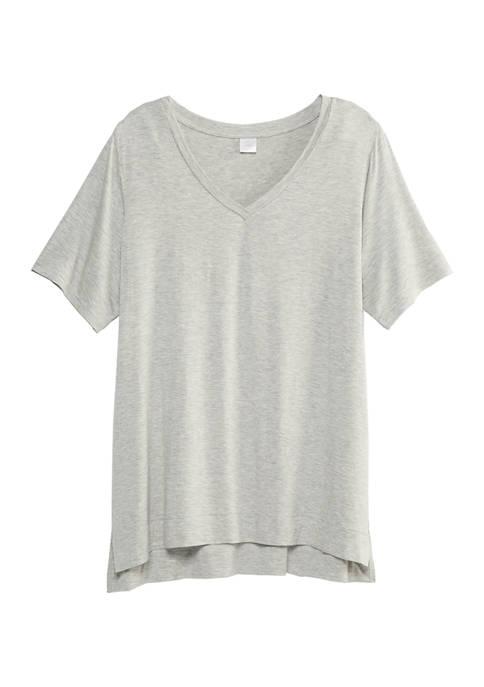 New Directions® Short Sleeve V-Neck T-Shirt