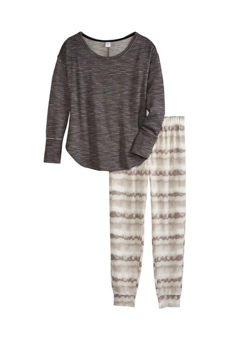 2-Piece Long Sleeve Knit Sweater and Joggers Pajama Set