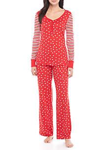 2-Piece Print Pajama Set