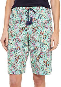 1c079a4b3e HUE® Dragonfly Fusion Capri Sleep Pants · New Directions® Bermuda Sleep  Shorts