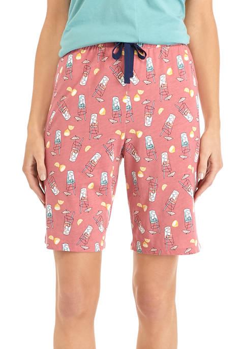 Printed Bermuda Sleep Shorts