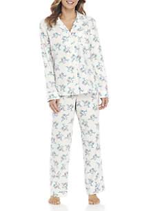 2-Piece Button Down Owl Pajama Set