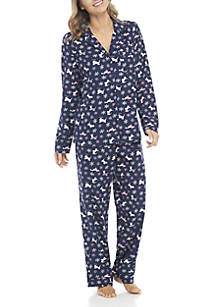 c1fd441e80 New Directions®. New Directions® 2-Piece Button Down Winter Dog Pajama Set