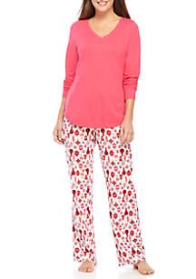 3-Piece Pink Pajama Set