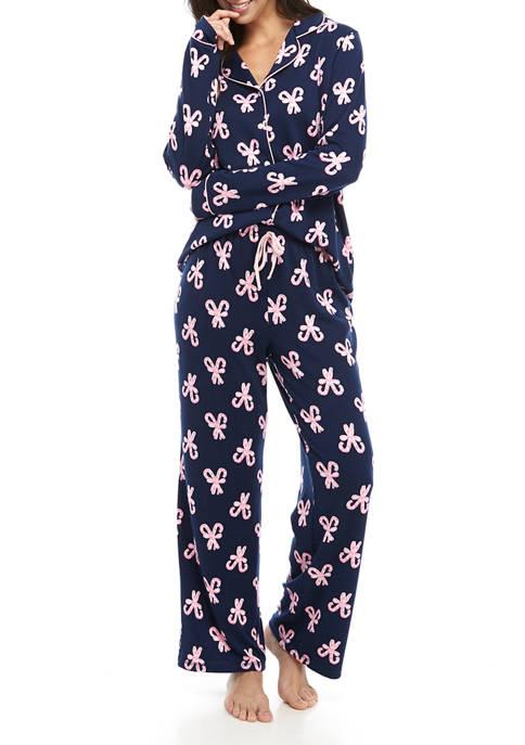 Crown & Ivy™ 2 Piece Notch Pajama Set