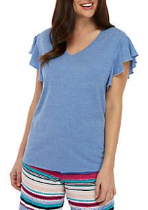 New Directions® Short Flutter Sleeve Sleep Top