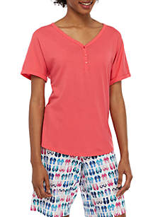 New Directions® Henley Pajama Top