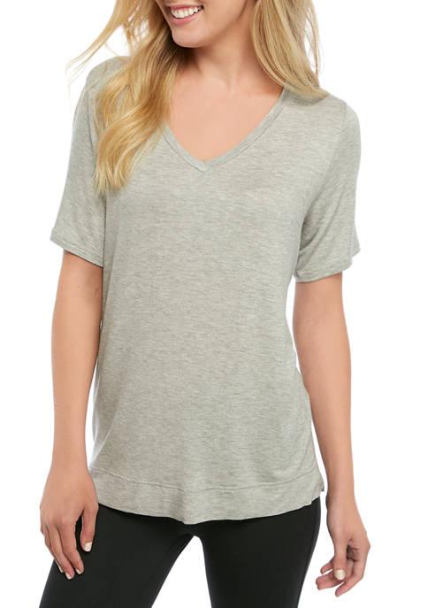 Short Sleeve V Neck Pajama Top