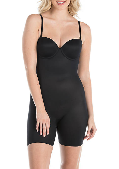 Strapless Cupped Mid-Thigh Bodysuit