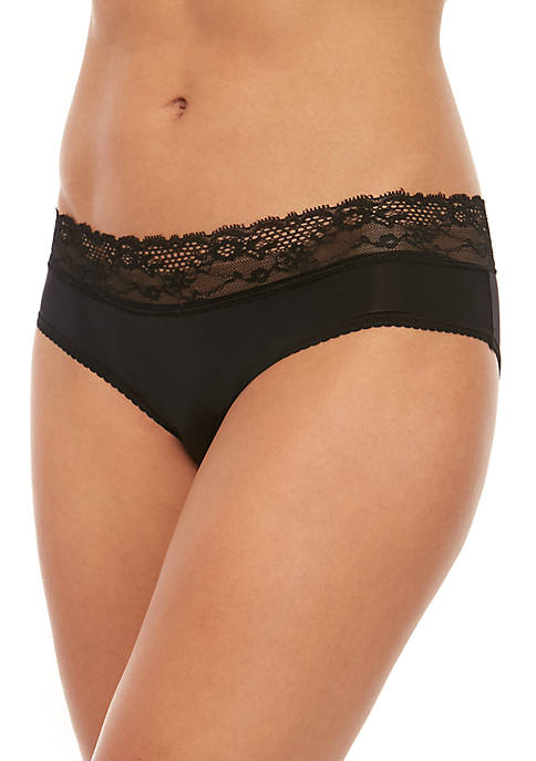 New Directions® Solid Lace Waist Micro Hipsters