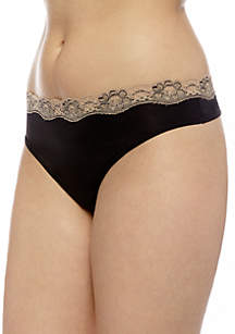 Lace Trim Thong - T91120P