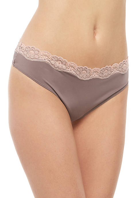 Solid Crossdye Thong