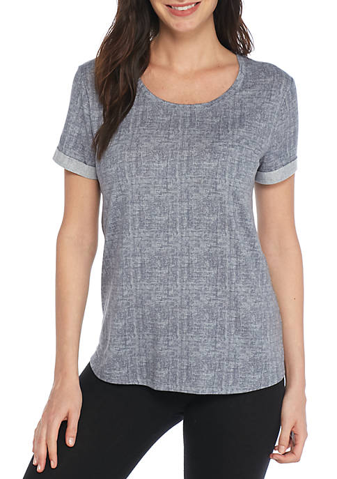 New Directions® Lush Lux Roll Cuff Tee
