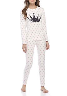 2-Piece Sequin Pajama Set