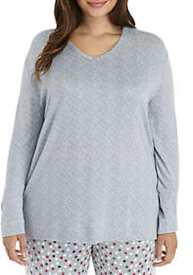 New Directions® Plus Size Long Sleeve V-Neck Top