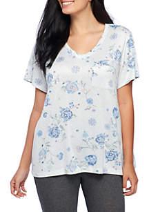 Plus Size Whisperluxe Short Sleeve V-Neck Top