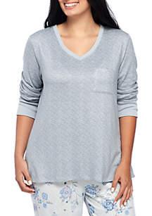 Plus Size Whisper Long Sleeve V-Neck Top