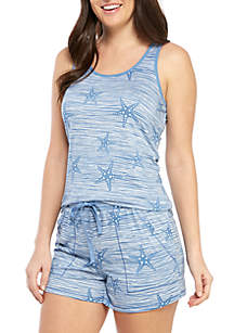 New Directions® 2 Piece Tank and Shorties Pajama Set