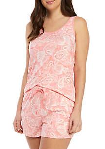 New Directions® 2 Piece Tank and Shorties Pajama Set