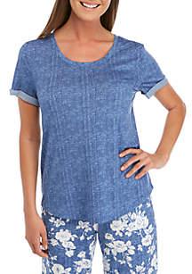 New Directions® Short Rolled Cuff Sleeve Lush Sleep Tee