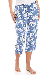 New Directions® Lush Luxe Capri Sleep Pants