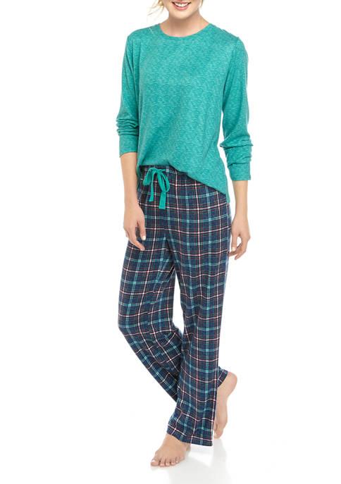 Womens 3 Piece Folded Pajama Set