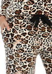 Womens 2 Piece Velour Drop Shoulder Pajama Set