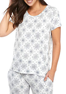 New Directions® Cozy Whisperluxe™ Round Neck Pajama Top