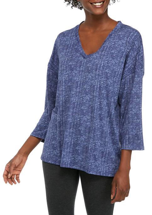 Womens 3/4 Sleeve Lush Luxe Sleep Top