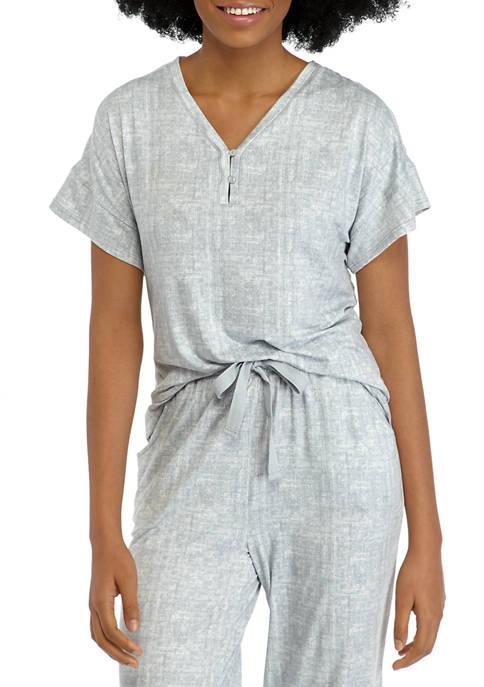 New Directions® Lush Henley Sleep T-Shirt