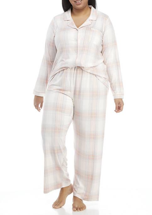 New Directions® Plus Size Lush Lux Notch Pajama
