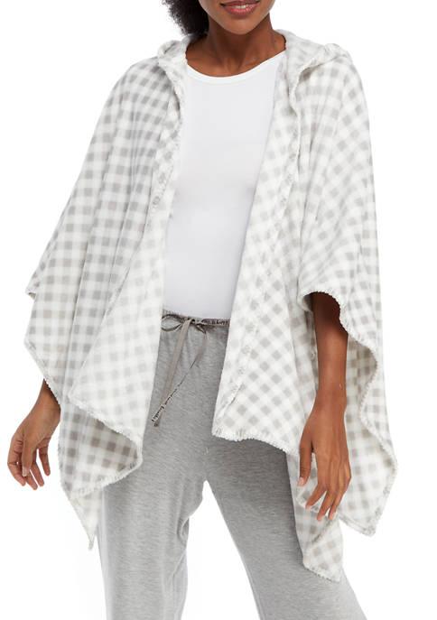 Kim Rogers® Womens Printed Plush Poncho