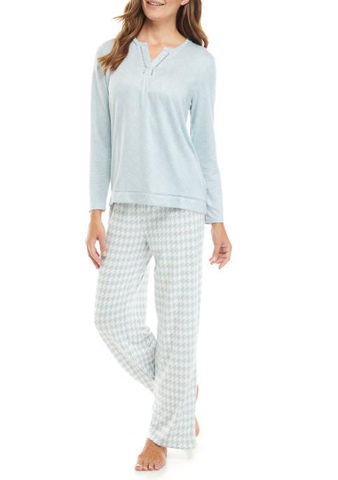 Kim Rogers® 2 Piece Whisper Long Sleeve Pajama