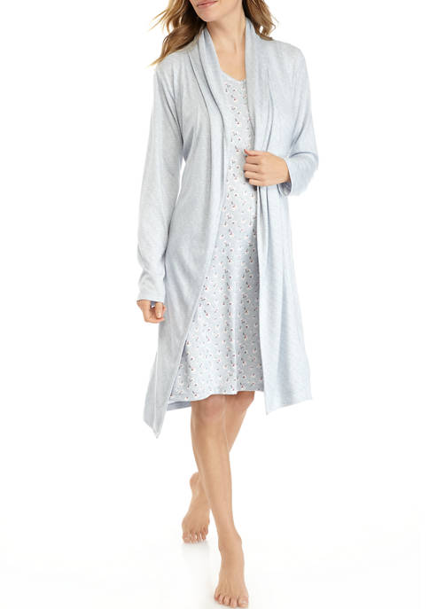 Kim Rogers® 2 Piece Whisper Robe and Chemise