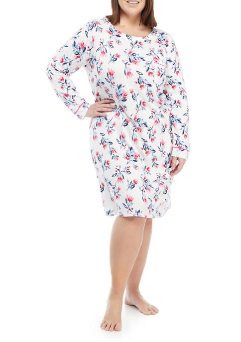 Kim Rogers® Plus Size Boat Neck Short Gown