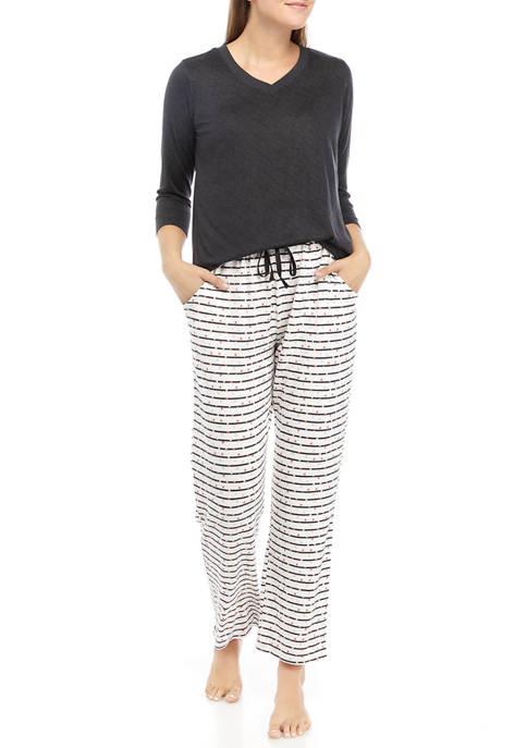 Kim Rogers® Whisper Soft 2-Piece Pajama Set