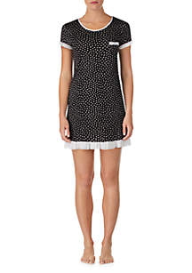 Layla® Short Sleeve Ruffle Hem Sleepshirt