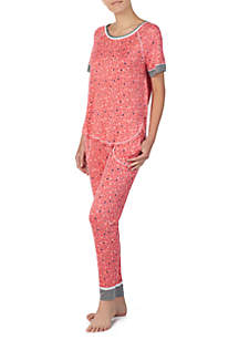 2-Piece Short Sleeve Pajama Set