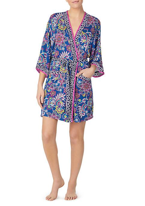 Layla® 3/4 Sleeve Kimono Sleep Robe with Headband