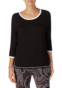 Layla® 3/4 Sleeve Ringer Top